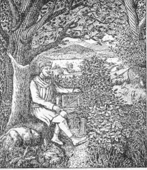 Heinrich der Vogler auf der Vogelsburg am Finkenherd (von W. Körber)