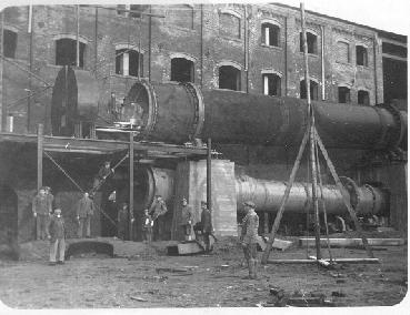 Am 22.5.1931 wurde die behördliche Genehmigung zum Bau einer Pfeiffer- Drehofen- Anlage erteilt.